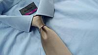 Mужская рубашка Burton голубая 17.5 ворот 44