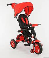 Велосипед трехколесный красны с надувными колесами