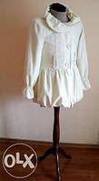 Женское пальто куртка AILA белого молочного цвета