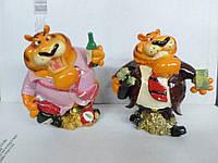 Сувенир Копилка солидный Тигр с деньгами