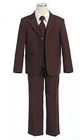 Выпускной коричневый костюм с галстуком на мальчика 2-18 лет