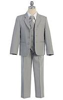 Выпускной серый костюм с галстуком на мальчика 2-18 лет