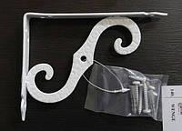 Менсолодержатель для деревянных  полок AMG-8194  белый 150х115 мм, фото 1