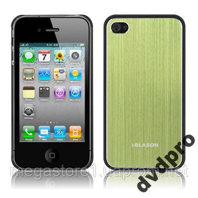 Пластиковый чехол Aluminum Style, для iPhone 4, 4S