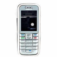 Корпус для Nokia 6233 з російською клавіатурою, High Copy, Сріблястий /панель/кришка/накладка /нокіа, фото 1