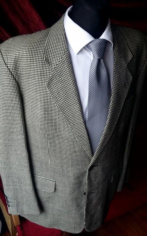 Твидовый пиджак в клетку серый шерсть 55bd71bc1aa55