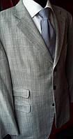 Стильный шерстяной пиджак клетка летний DAKS серый