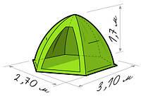 Зимняя палатка Лотос 4 (Lotos 4) зонт (д*ш*в 2,7*3.1*1,7) 3-4-х местная