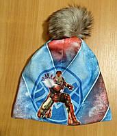 Теплая шапочка на флисе детская