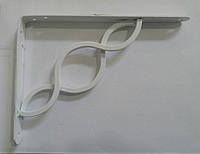 Менсолодержатель для деревянных  полок AMG-12364  белый 200х150 мм, фото 1