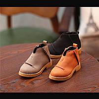 Кожаные короткие ботиночки, унисекс