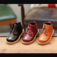 Стильные ботинки на шнуровке в трех цветах