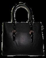 Оригинальная женская сумка черного цвета из искусственной кожи FHK-745382