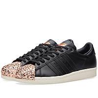 Оригинальные  кроссовки Adidas Women's Superstar Metal Toe W Black & Copper