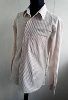 Рубашка Van Heusen в полоску бежева приталенная