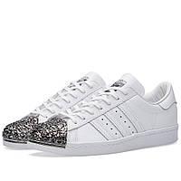 Оригинальные  кроссовки Adidas Women's Superstar Metal Toe W White & Black