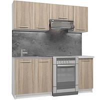 Кухонный гарнитур модельный  1,8 м из 5 модулей, цвет дуб сонома (кухонный комплект мебели)
