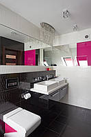 Тумба в ванную с квадратной раковиной