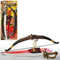 Набор оружия 541-1B1-B2 лук, стрелы-присоски 3 шт, меч, мишень, 2 вида