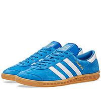Оригинальные кроссовки Adidas Hamburg Bluebird & White