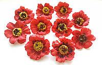 Цветы Маки Красные из фоамирана (латекса) 4 см 10 шт/уп