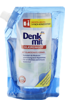 Средство для мытья стекла и пластика  Denkmit Glasreiniger  (Запаска на 1000 мл.)