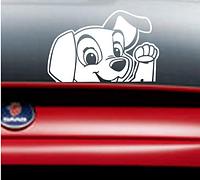 Наклейка для автомобиля 3D собака. Виниловая наклейка на авто.