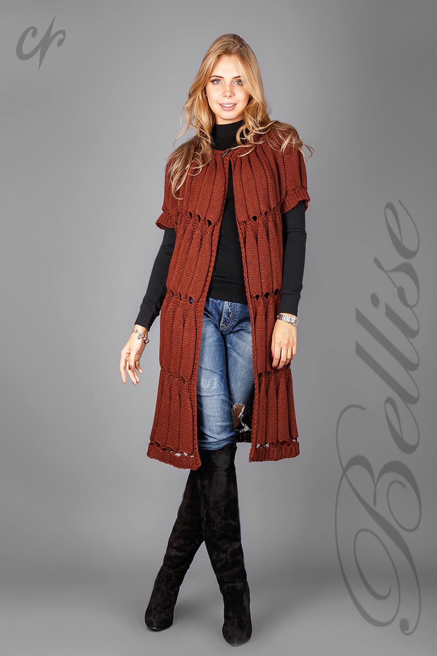 Кардиган-пальто вязанный 1236