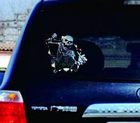 Наклейка для машину 3D скелет 21*18 см Виниловая наклейка на авто.