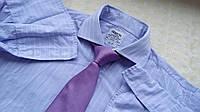 Mужская рубашка T.M.Lewin голубая полоска 15.5