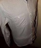 Светло-серо-бежевая рубашка Burton Коттон