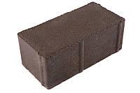 Тротуарная плитка «Кирпичик»  6 см коричневая
