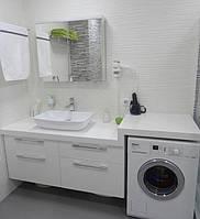 Тумба в ванной комнате с каменной столешницей, фото 1