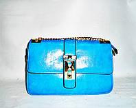 Стильная женская сумка голубого цвета из искусственной кожи LGF-853469