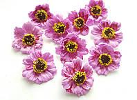 Цветы Маки Розовые из фоамирана (латекса) 4 см 10 шт/уп