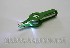 Щипчики для коррекции бровей с подсветкой Р056  pink, фото 3