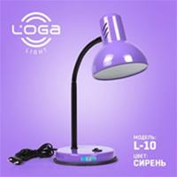 """Лампа настольная ТМ LOGA light """"Сирень"""" (сиреневая)"""