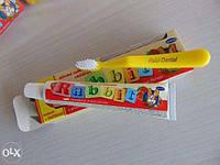 Детская зубная паста Rabbit+зубная щетка в подарок.