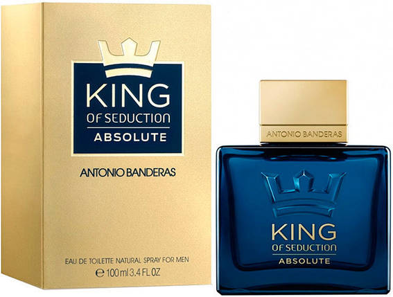 Antonio Banderas King of Seduction Absolute туалетная вода 100 ml. (Антонио Бандерас Кинг оф Седакшн Абсолют), фото 2