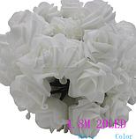 Садовая гирлянда на солнечной энергии Розы белые, фото 5