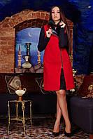 Женский деловой красный кардиган (р. 44-52) арт. 898 Кашемир Тон 12