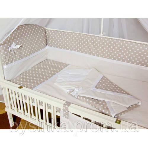 """Детское постельное в кроватку из 3-ед-""""Горох с атласной лентой"""""""
