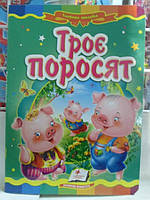 КАРТОННАЯ Книга ТРОЄ ПОРОСЯТ УКР