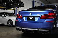 Диффузор юбка обвес заднего бампера BMW F10 M Sport стиль Vorsteiner