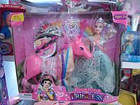 Кукла барби с лошадкой в коробке