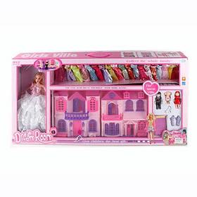 Кукольный домик с куклой 668-7