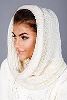 Белый шарф снуд женский