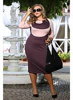 Женское платье на каждый день Гиацинт цвет слива  до 72 размера