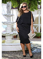 Женское коктейльное платье Хьюстон цвет черный до 72 размера / большие размеры