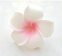 Цветок Плюмерия Розово-белый из фоамирана (латекса) 6 см 1 шт
